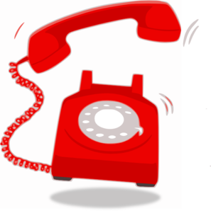 Ringing Red Telephone Clip Art at Clker.com.