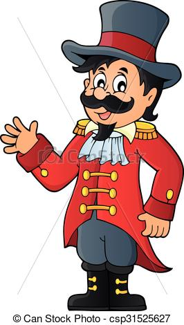 Vector Illustration of Circus ringmaster theme image 1 csp31525627.