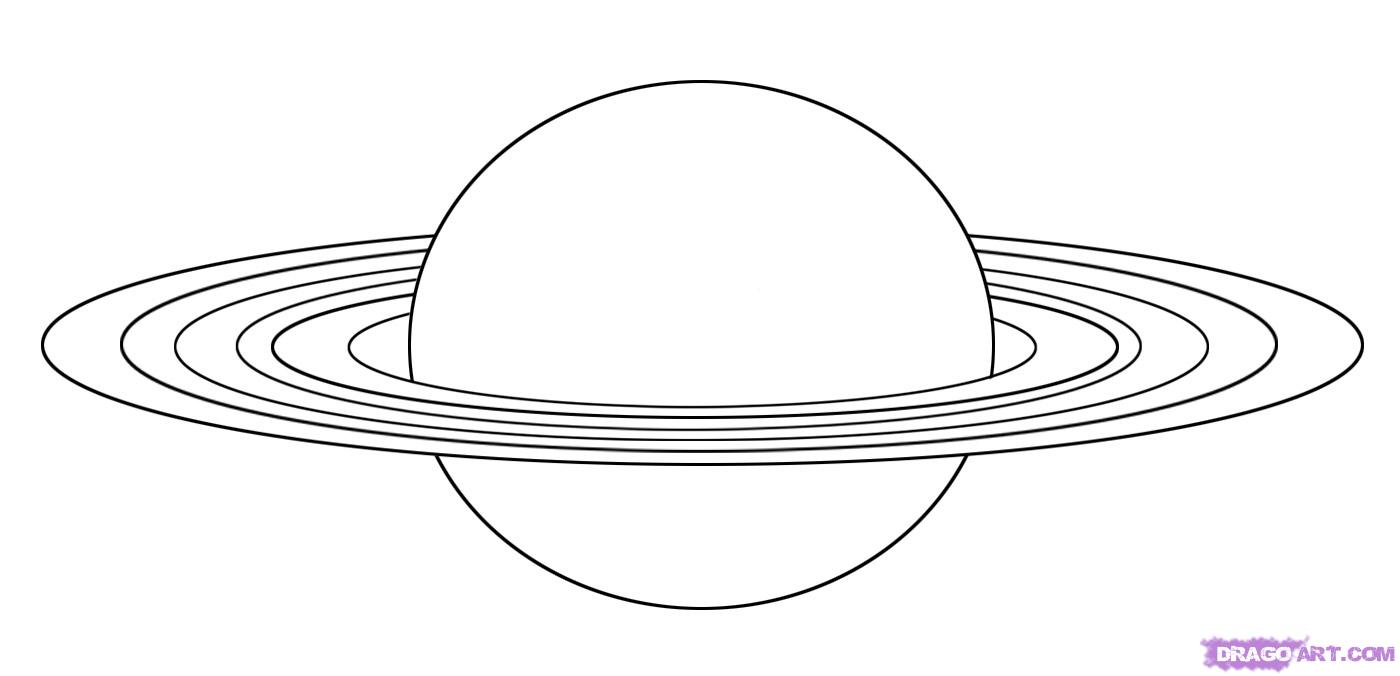 How to Draw Saturn, Step by Step, Outer Space, Landmarks & Places.