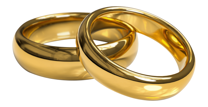 Wedding rings png image.