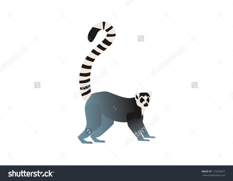 Ring Tailed Lemur Stock Vector 113230957.