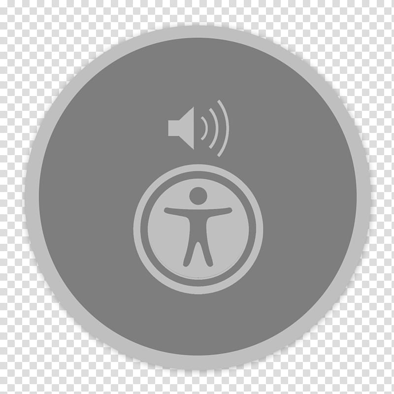 Flader default icons for Apple app Mac os X, Voiceover.