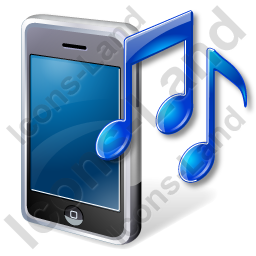 Mobile Phone Ringtone Icon, PNG/ICO Icons, 256x256, 128x128.