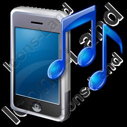 Mobile Phone Ringtone Icon, PNG/ICO Icons, 256x256, 128x128.