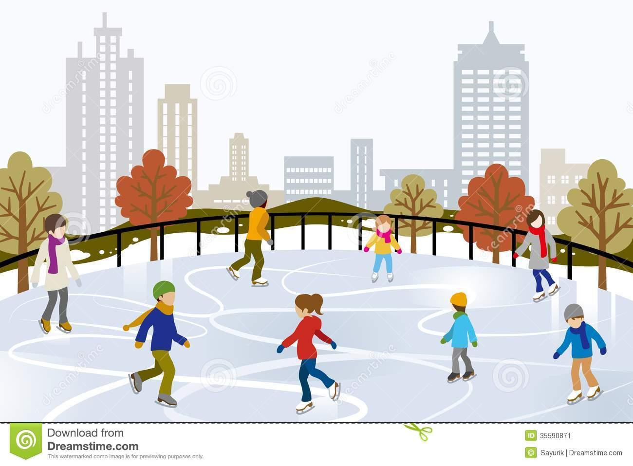 Skating rink clip art.