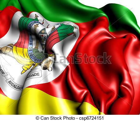 Clipart of Flag of Rio Grande do Sul. Close up. csp6724151.