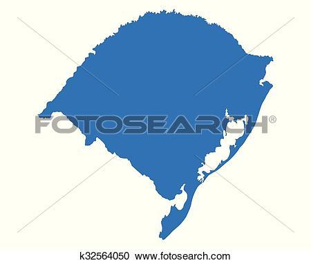 Clipart of Map of Rio Grande do Sul k32564050.