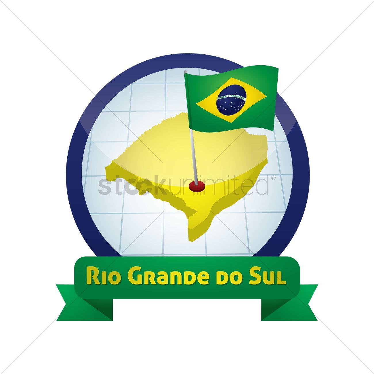 Rio grande do sul map Vector Image.