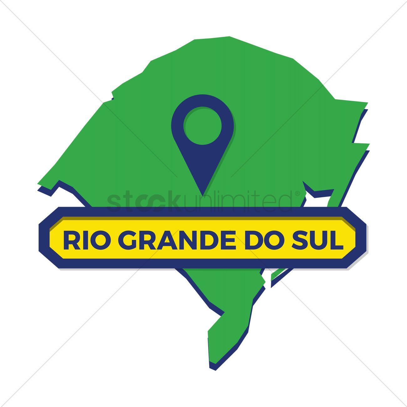 Rio grande do sul map with map pin Vector Image.