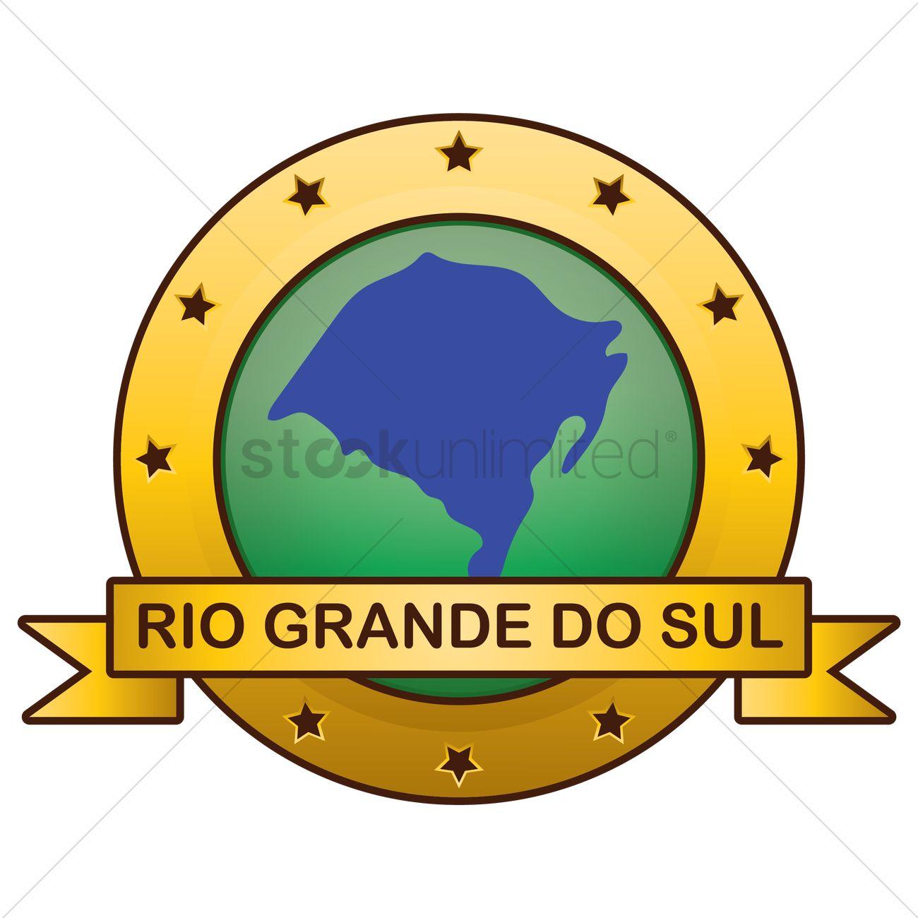 Rio grande do sul state map Vector Image.