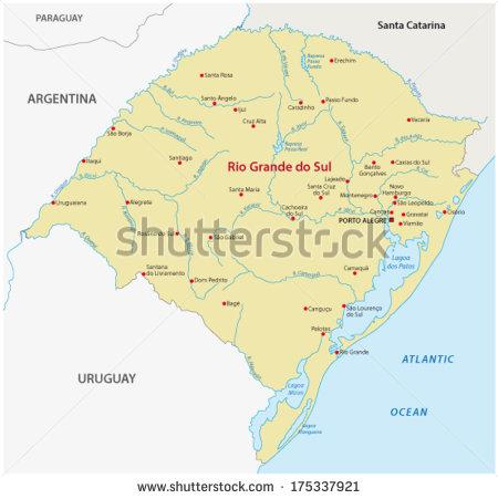 Rio grande valley map clipart.