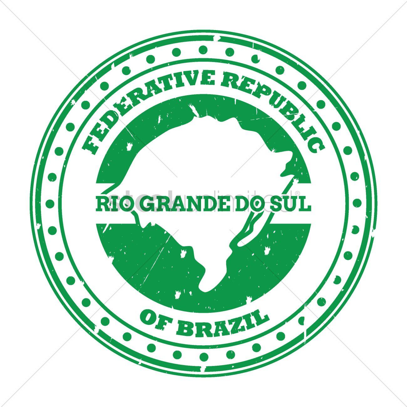Rio grande do sul map stamp Vector Image.