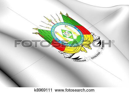 Clipart of Rio Grande do Sul Coat of Arms, Brazil. k8969111.