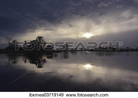 "Stock Photograph of ""Evening at a widened part of the Amazon or."