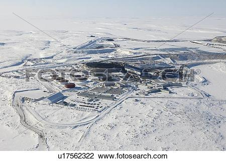 Stock Photo of Diavik Rio Tinto Diamond Mine, Lac de.