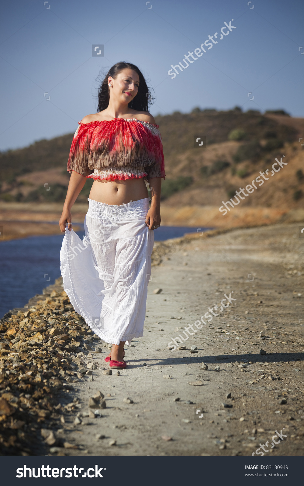 Woman On Nature Walk Rio Tinto Stock Photo 83130949.