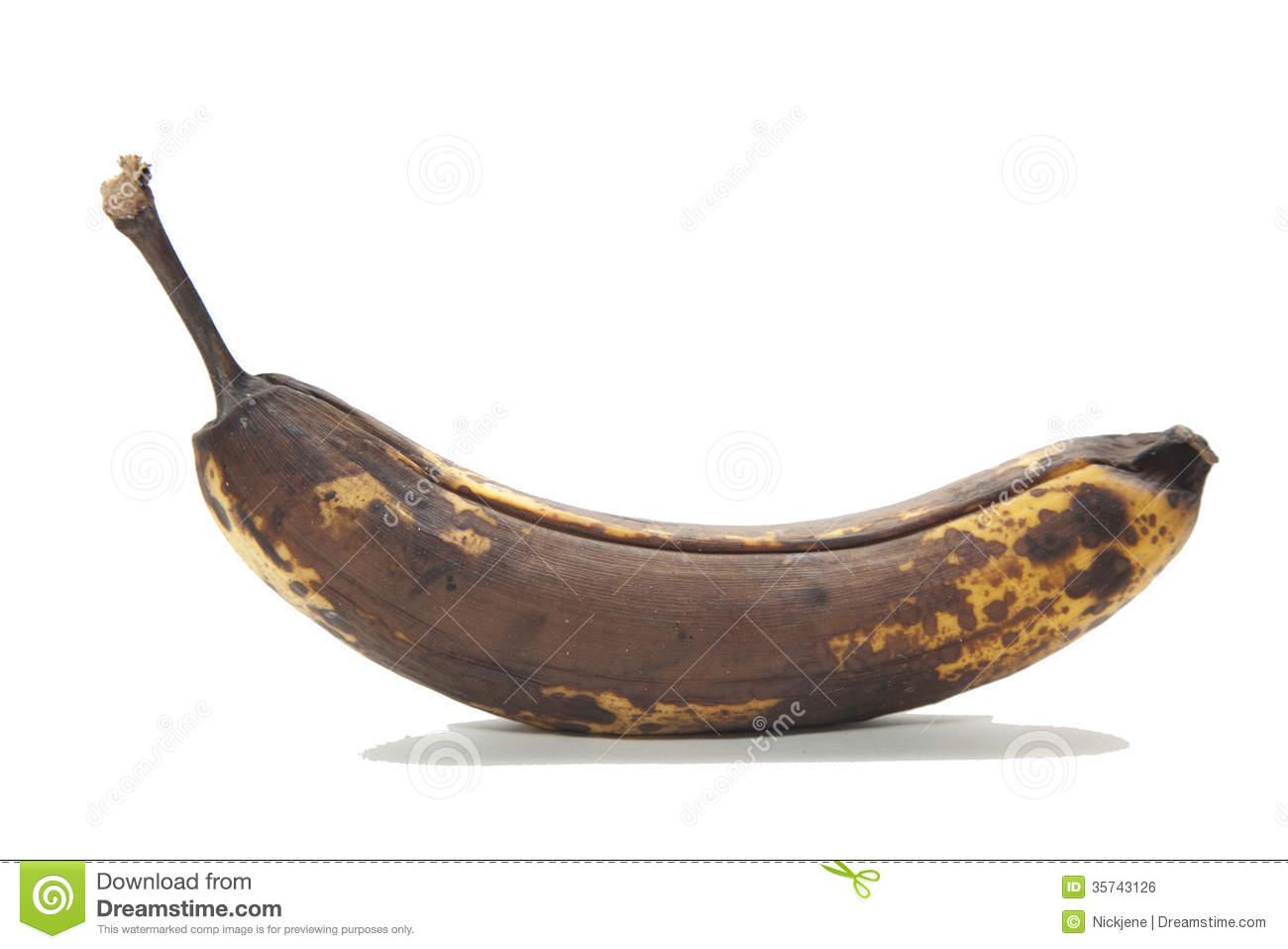 Rotten banana clipart.