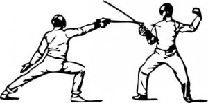 Riposte From Parry Of Quarte Clip Art Download.