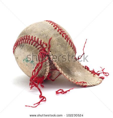 Authentic Used Baseball Isolated On White Stock Photo 102230554.