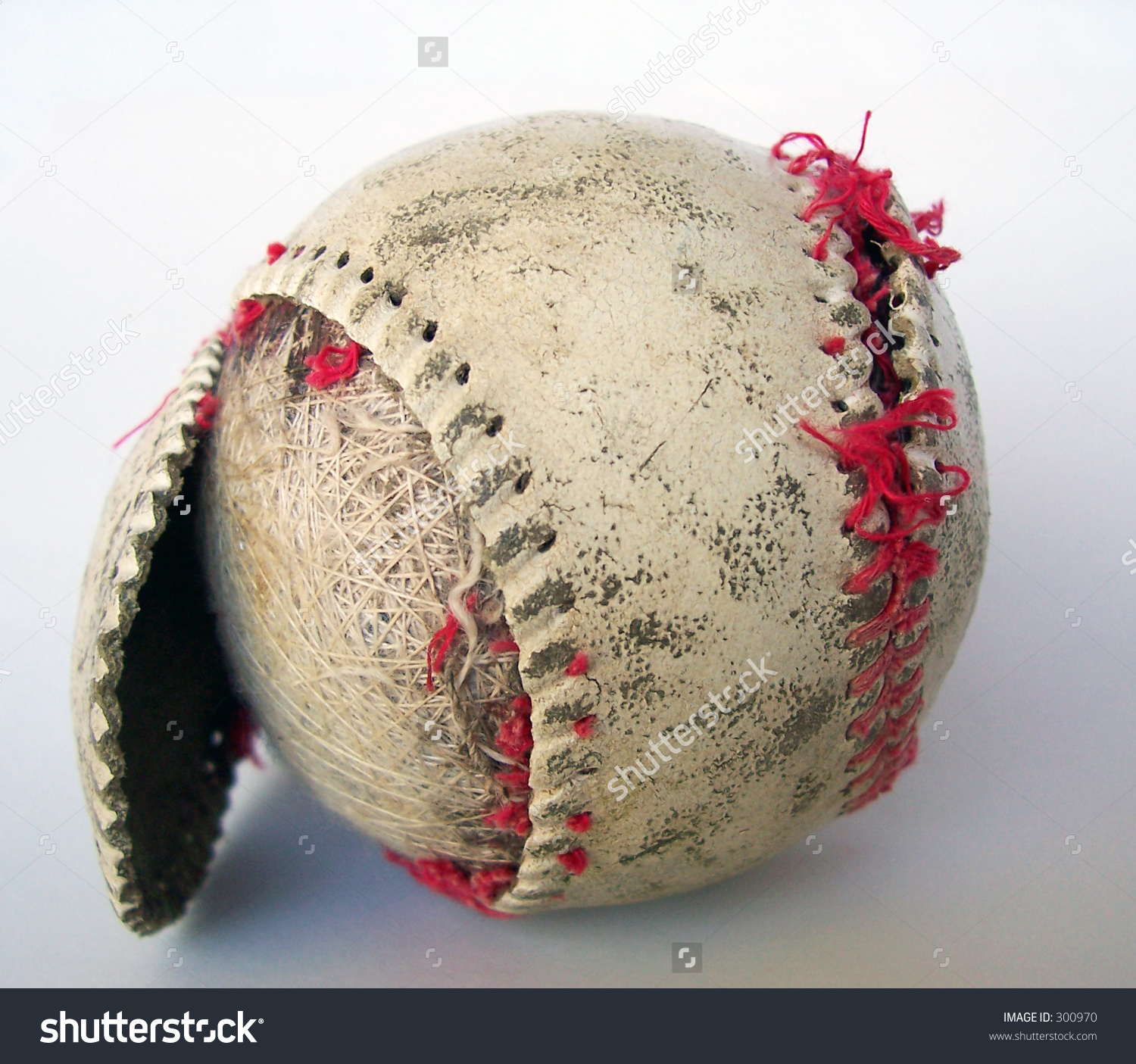 Old Torn Baseball Stock Photo 300970 : Shutterstock.