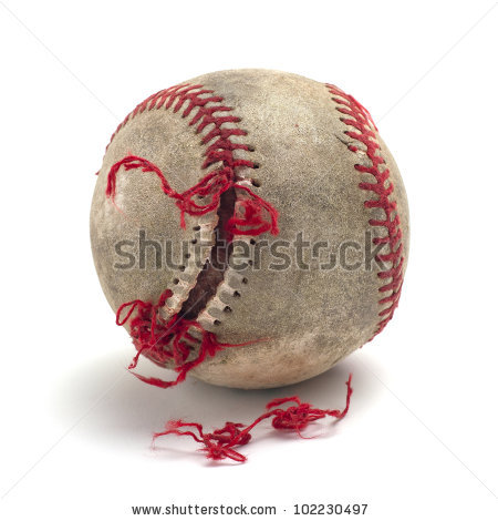 Dirty Baseball Stock Photos, Royalty.