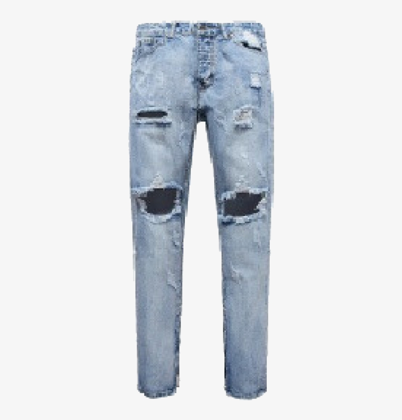 Ripped Jeans Design For Men Transparent PNG.