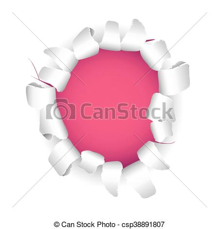 Vector Clipart of Ripped paper background.