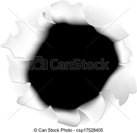 Vector Clipart of Ripped Paper Hole.