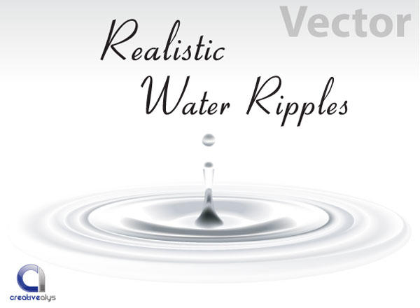 Free Realistic Vector Water Ripples.
