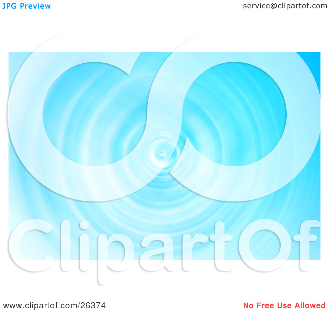 Clipart Illustration of a Background of Rippling Blue Water.