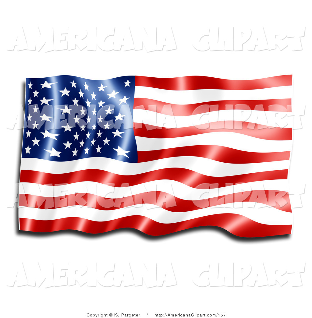 Americana Clip Art of a Patriotic New Red, White and Blue American.
