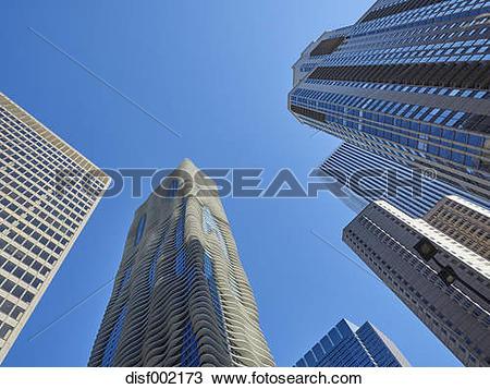 Stock Photo of USA, Illinois, Chicago, High.
