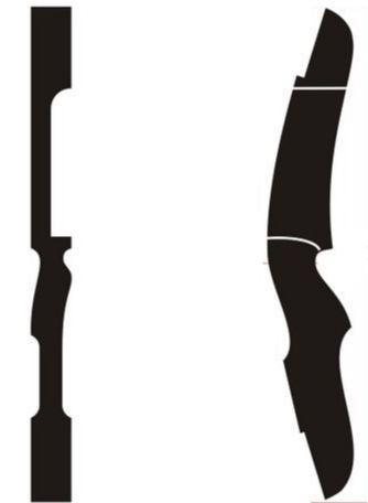 Arqueiros BR: Projeto de Riser para Arco tamanho real para.