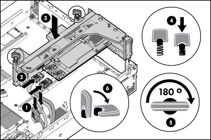 Hard drive cage option.