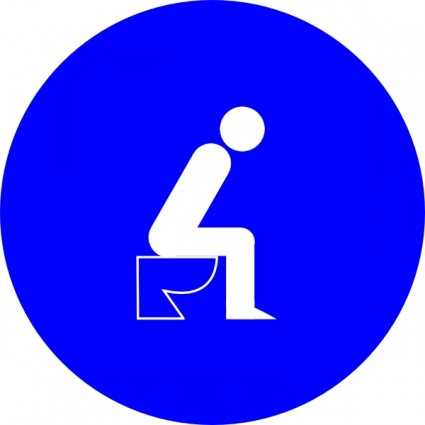 Sitting On Toilet clip art.