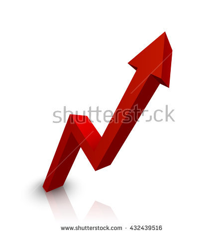 Rising Arrow Stock Images, Royalty.