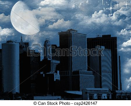 Stock Illustrations of Bad Moon Rising.