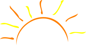 Rising Sun Clipart.