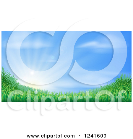 Clipart of a Background of Heavenly Sky with Shining Light and.