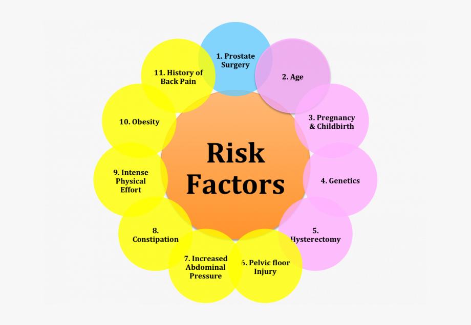Pelvic Floor Dysfunction Risk Factors , Transparent Cartoon.