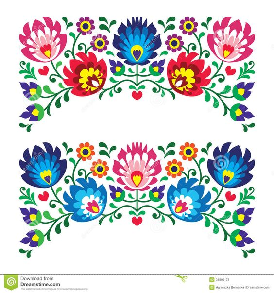 Polish floral folk embroidery patterns.