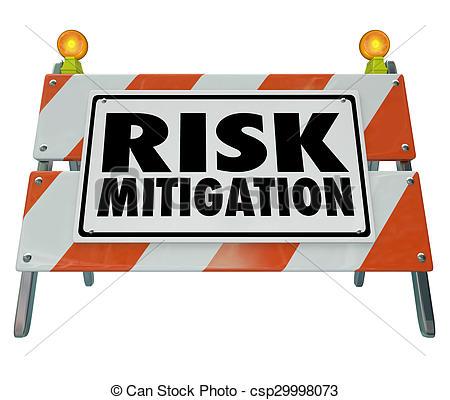 Stock Illustrations of Risk Mitigation Barrier Sign Reduce Danger.
