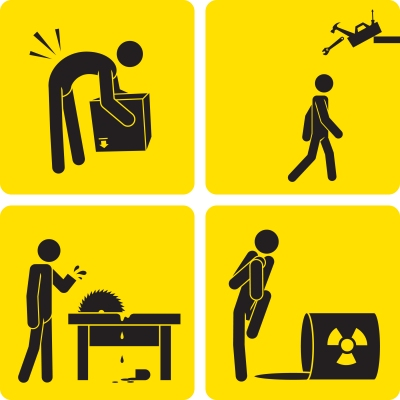 Workplace injury clipart.