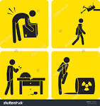 Risk of injury clipart.