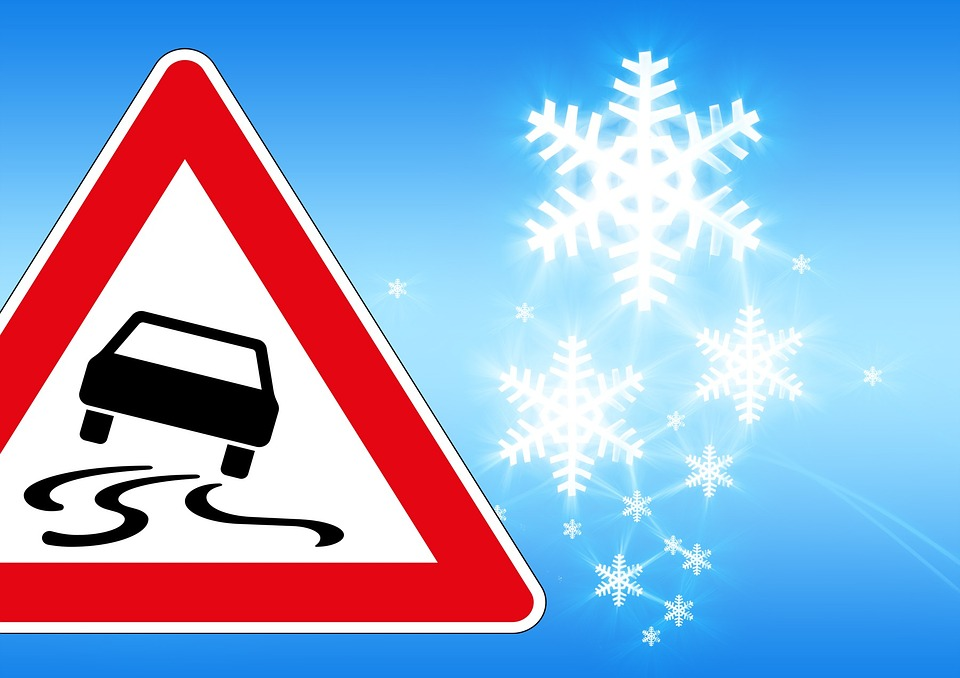 Free illustration: Traffic Sign, Ice, Risk Of Slipping.
