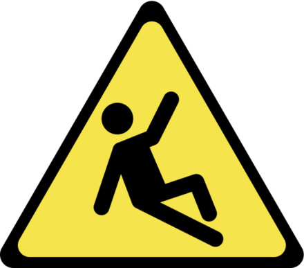 Slip And Fall Hazard Clipart.