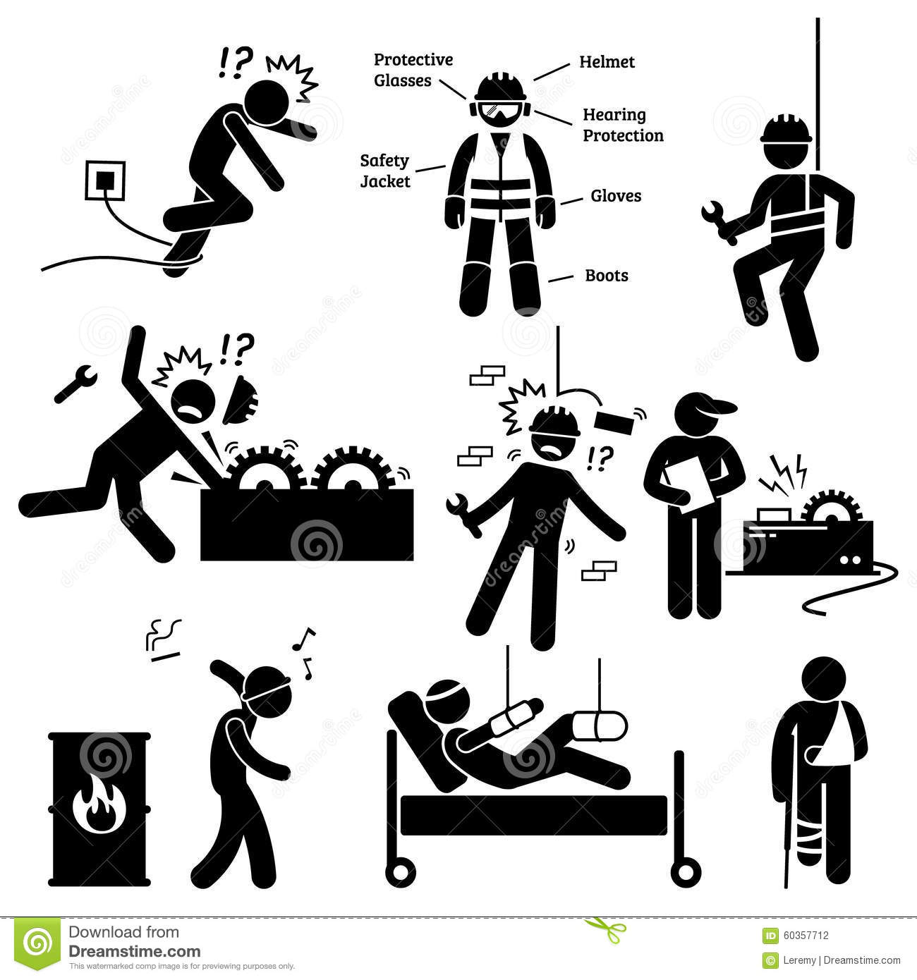 Pictogramme Clipart De Risque D'accident De Professionnel De La.