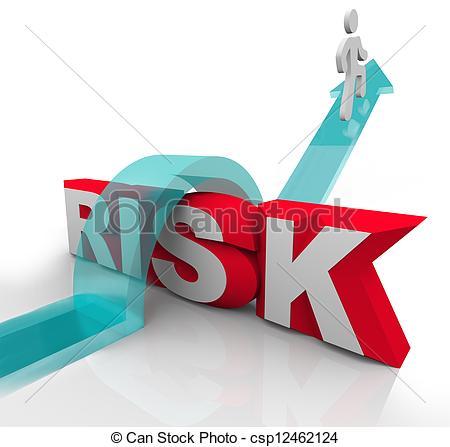 Clip Art de mot, risque, danger, éviter, sur, Risques, Sauter.