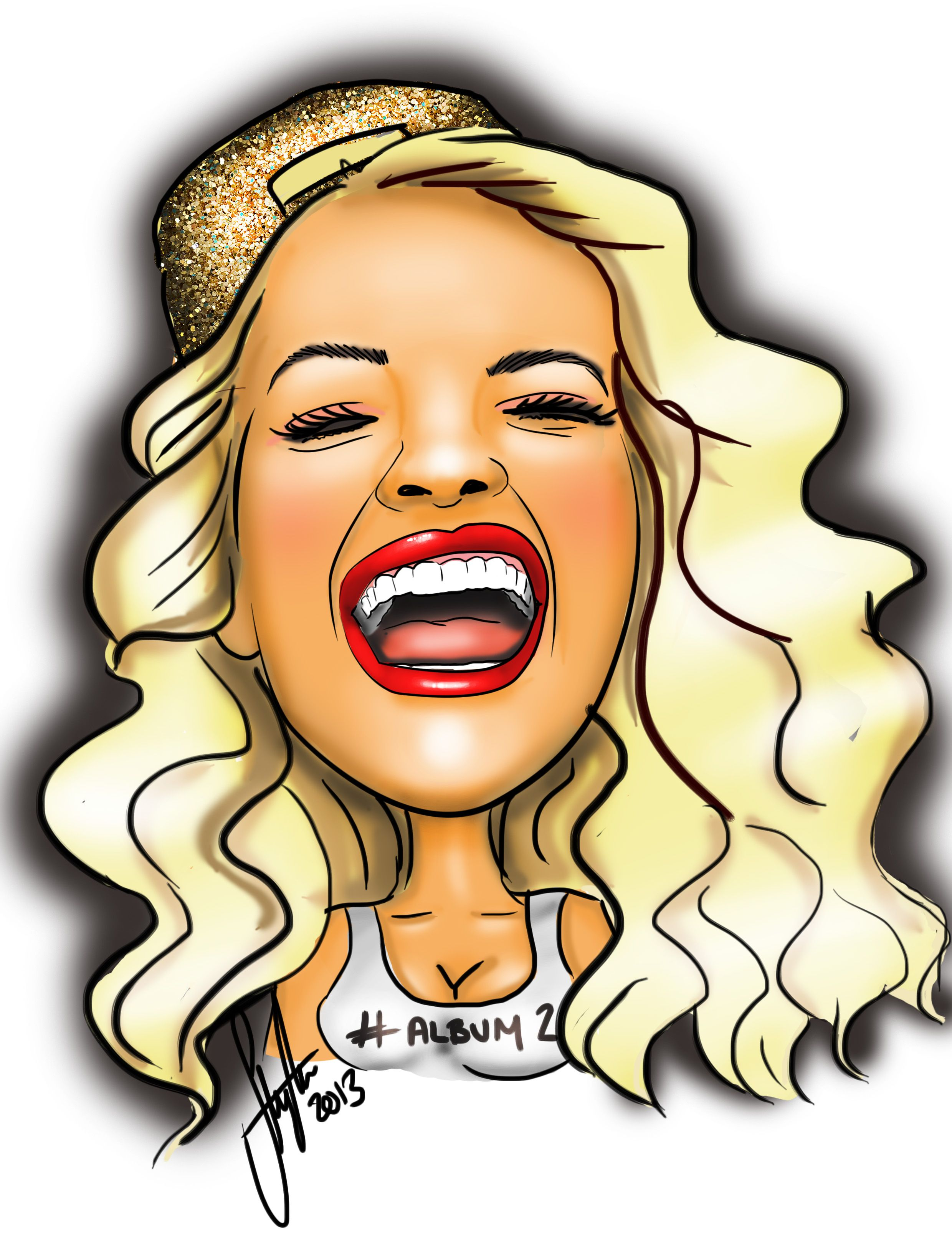 Rita Ora Celebrity illustration by Steph\'s Sketches www.