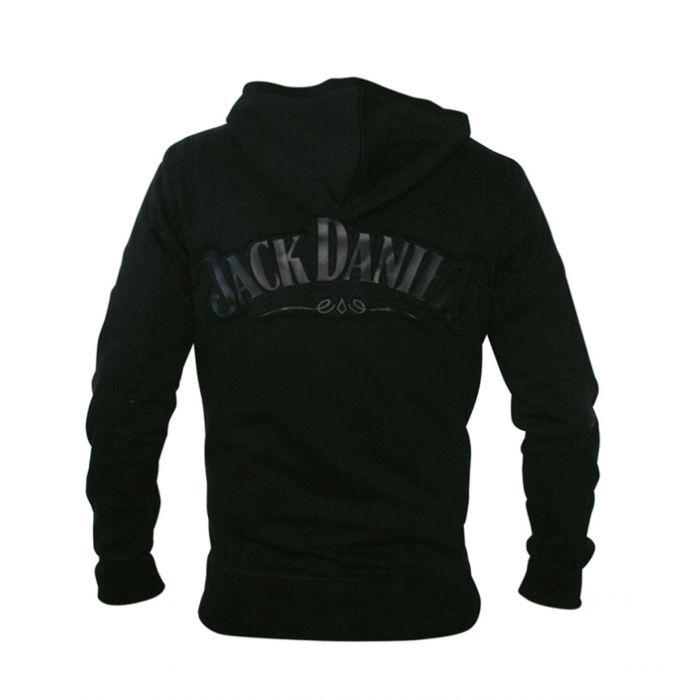 Jack Daniel\'s Logo Hoodie met Rits.